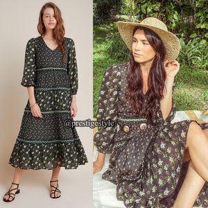 🆕 ANTHROPOLOGIE Karoline Tiered Maxi Dress